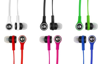 Xtreme Skinny Audio Earbuds with Microphone and Volume Control 2-Pack