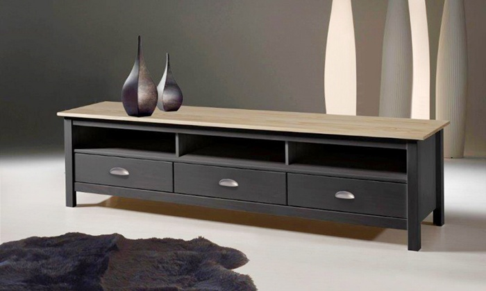 Meuble tv botello groupon shopping - Meuble tv anthracite ...