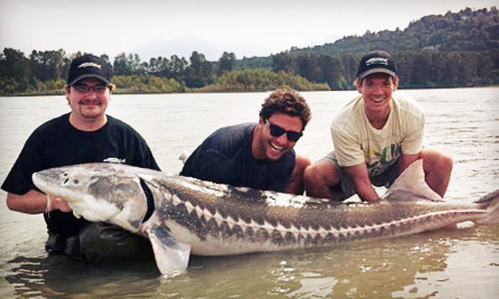 Great River Fishing Adventures - Chilliwack: Sturgeon- or Salmon-Fishing Trip for Two or Private Trip for Four from Great River Fishing Adventures (Up to 61% Off)