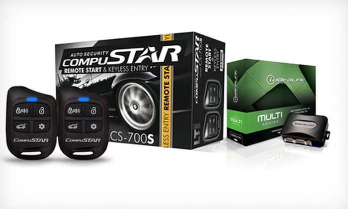 Truck & Autowares - Wilton: $199 for CompuStar Remote Car Starter with Interface Module Installation at Truck & Autowares ($400 Value)