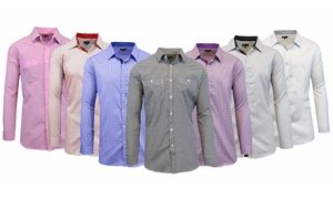Men's Printed Dress Shirt with Contrast Collar and Cuffs at Men's Printed Dress Shirt with Contrast Inner Collar and Cuffs, plus 6.0% Cash Back from Ebates.