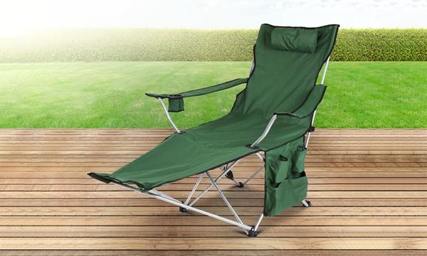 Goods /& Gadgets Chaise de camping//p/êche avec repose-pieds Bleu//vert