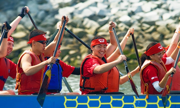 Dragon Zone Dragon Boat Paddling Club - Creekside Community Centre: Four-Week Introductory Boating Course for One or Two from Dragon Zone Paddling Club (Up to 50% Off)