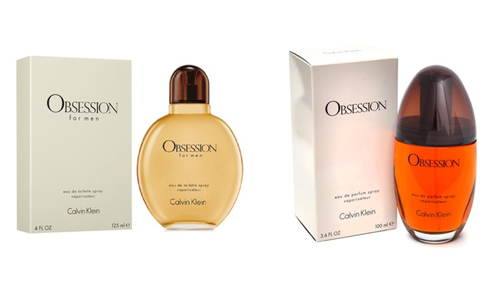 Calvin Klein Obsession for Women or Men (3.4 or 4 Fl. Oz.)