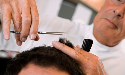$10 for a Men's Haircut, Shampoo, and Style Package from Michaela Meyer at Rumors Salon ($22 Value)