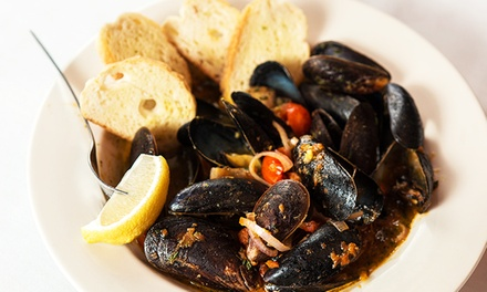 Seafood and Drinks at Molly Cool's Seafood Tavern (50% Off). Two Options Available.