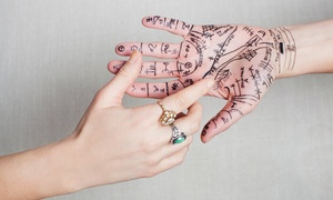 Anya Psychic: Palm Reading for Two, Two-Hand Reading and Psychic Consult, or Reading Package at Anya Psychic (Up to 53% Off)