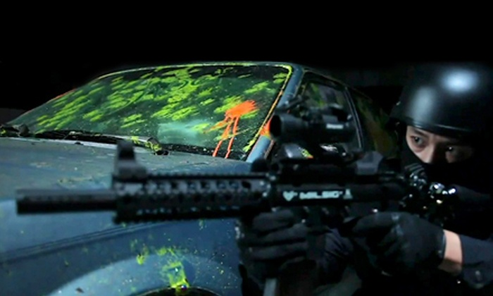 Richmond Indoor Paintball - Richmond City Centre: Paintball Package for 1, 2, 4, or 10 with Gear and Paintballs at Richmond Indoor Paintball (Up to 65% Off)