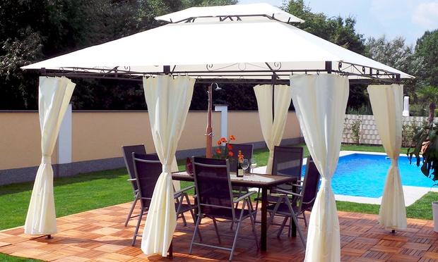 luxus pavillon 3 x 4 meter groupon goods. Black Bedroom Furniture Sets. Home Design Ideas