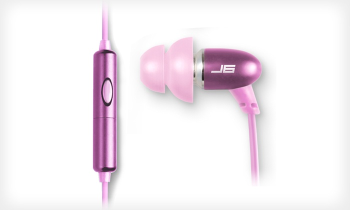 Earphones with microphone pink - durable headphones with microphone