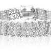 1 CTTW Five Row Diamond Bracelet in Platinum Plated Brass