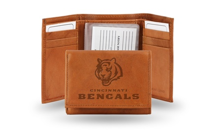 $14.99 NFL Embossed Genuine-Leather Wallet - Online #Deal