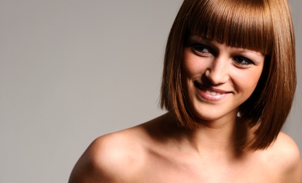 Cut with Conditioning Treatment, Color, or Accent Highlights at The Beauty Bar Specialty Shop (Up to 50% Off)