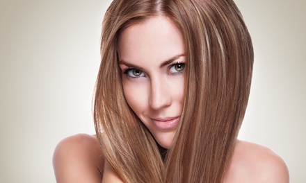 Haircut with Color or Partial or Full Highlights or a Keratin Treatment at Glamour Addict (Up to 64% Off)