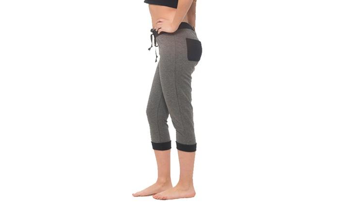 Coco Limon Women's Capri Joggers with Pockets. Plus Sizes Available.: Coco Limon Women's Capri Joggers with Pockets (Size 1X)