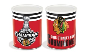 Chicago Kernel Gourmet Popcorn: 1 or 3.5 Gallons of Popcorn in a Blackhawks Commemorative Tin at Chicago Kernel Gourmet Popcorn (50% Off)
