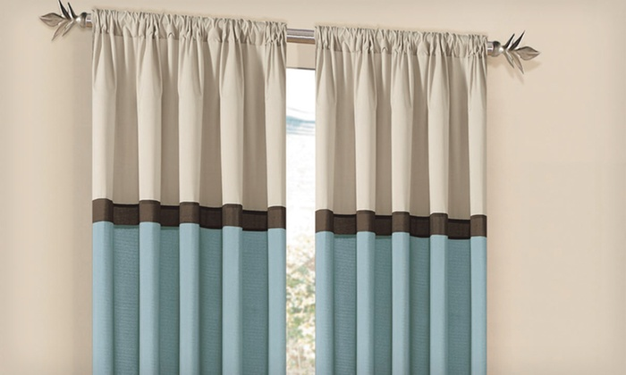 $13.99 for Two Cosmopolitan 80x84 Flip-It Curtain Panels. 4 Colors Available. Free Returns