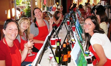$23 for a Painting Event with a Glass of Wine from Corks and Canvas Events ($45 Value)