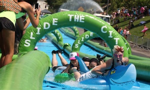 Special Events Management: Slide the CIty: $34 for a Single-Slide Package for Two at Slide the City on September 4 or 5 (Up to $70 Value)