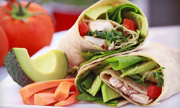 Foodies - Central Business District: Fresh Wraps, Healthy Salads, Sandwiches, Coffee, and Smoothies at Foodies (Up to 53% Off). Two Options Available.