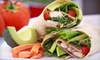 Foodies-CLOSED - Central Business District: Fresh Wraps, Healthy Salads, Sandwiches, Coffee, and Smoothies at Foodies (Up to 53% Off). Two Options Available.