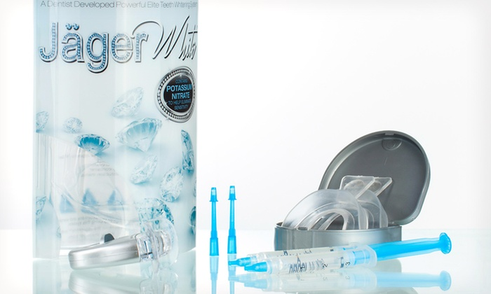 Jager Teeth Whitening Kit : Jager Teeth Whitening Kit with Icing Formula, Molding Trays, and an Accelerator LED Light or Tray Storage Case
