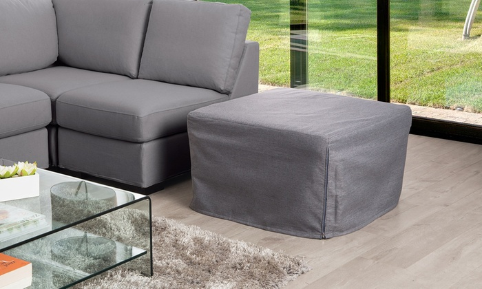 pouf convertible en lit groupon shopping. Black Bedroom Furniture Sets. Home Design Ideas