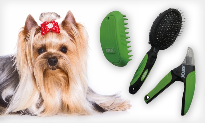 ASPCA Collection Dog-Grooming Tools: $24.99 for ASPCA Collection Dog-Grooming Tools ($37.97 List Price). Three Colors Available. Free Shipping and Returns.