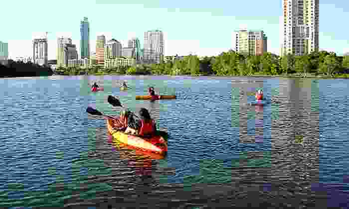 Live Love Paddle - Riverside: Two-Hour Single Kayak Rentals with One Dry Box, valid on a Weekday or Weekend at Live Love Paddle (51% Off)