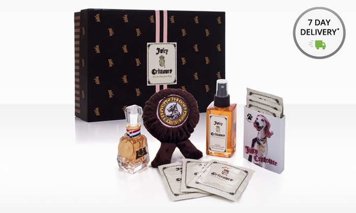 Juicy Crittoure Dog Bath Bundle, Perfume, or 4-Piece Gift Set: Juicy Crittoure Dog Bath Bundle, Perfume, or Gift Set. Three Options from $14.99–$18.99. Free Returns.