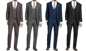 Mundo Slim-Fit Sharkskin Suits (3-Piece)