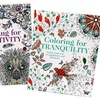 Coloring for Tranquility and Coloring for Creativity Books (2-Pack)