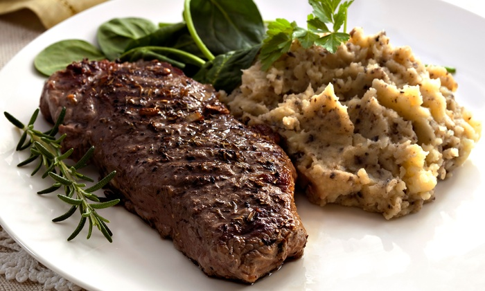 The Steak Out  - Heritage/Millwoods: Breakfast, Lunch, or Dinner for Two or Four at The Steak Out (50% Off). Four Options Available.