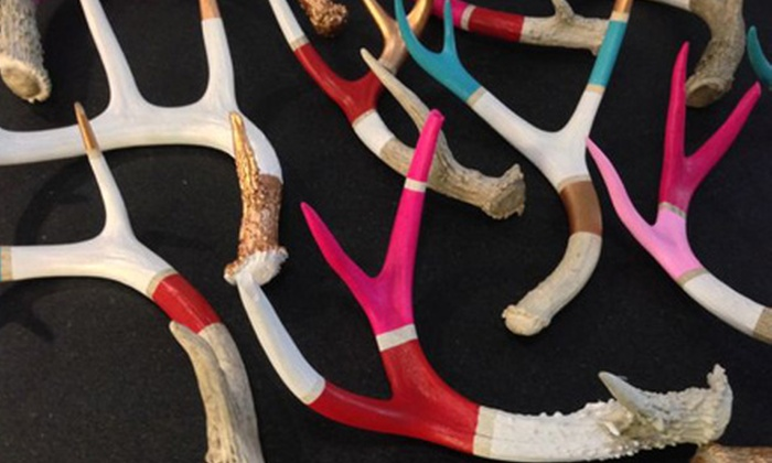 Groupon Exclusive: BYOB Workshop on Painting Ethically Sourced Antlers - DUMBO: Groupon Exclusive: Paint an Ethically Sourced Antler with a DIY Expert