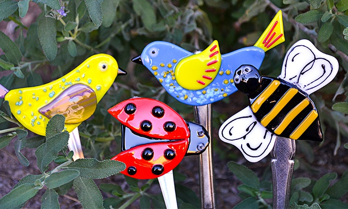 Sonoran Glass School - Barrio Santa Rosa: Warm Shop Garden-Stakes Glass-Fusing Class for One, Two, Four, or Eight at Sonoran Glass School (Up to 52% Off)