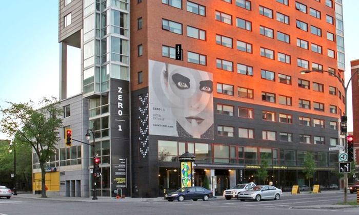 Hotel ZERO 1 Montréal - Saint-Jacques: One-Night Stay at Hotel Zero 1 Montréal in Montreal, QC