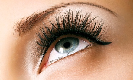 Full Set of Eyelash Extensions with Refill by Lindie Fuller (55% Off)