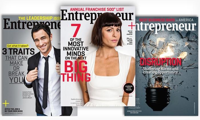 One-Year Subscription to Entrepreneur Magazine: $6 for a One-Year, 12-Issue Subscription to Entrepreneur Magazine ($11.97 List Price). Free Shipping.