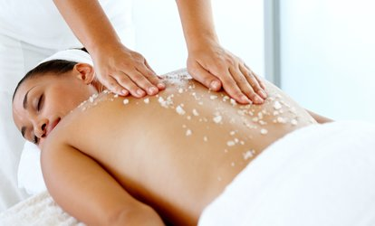 Green-Tea Body Scrub and Massage or Massage and Facial at Ease MedSpa + Wellness (Up to 51% Off)