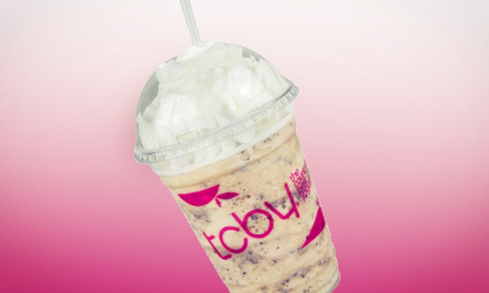 TCBY - Asheville: Low-Fat or Dairy-Free Frozen Yogurt, Milk Shakes, or Cakes or Pies at TCBY (Half Off). Two Options Available.