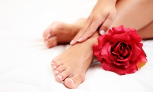 The Pamper Stop Salon: Deluxe Manicure & Spa Pedicure With Paraffin or Shellac Manicure & Spa Pedicure at The Pamper Stop Salon (Up to 60% Off)