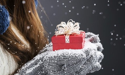 Swarovski Elements Four-Piece Jewelry Mystery Christmas Gift