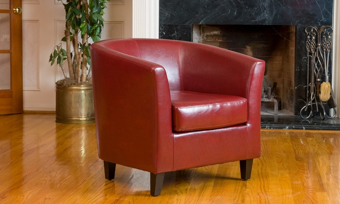 Petaluma Bonded Leather Club Chair