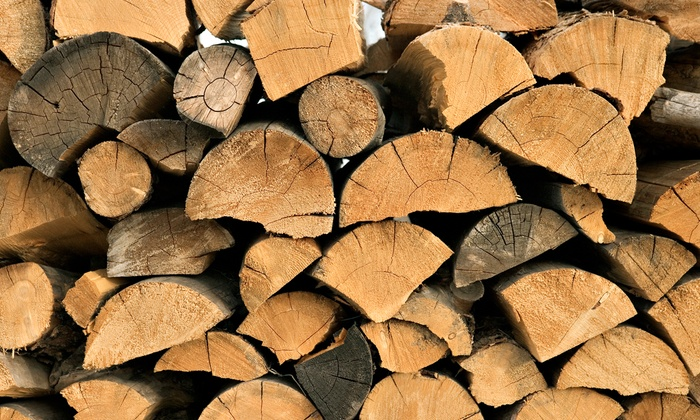Woodchuck Firewood - Valley Center: Firewood or Recycled Tree Mulch at Woodchuck Firewood (Up to 50% Off). Five Options Available.