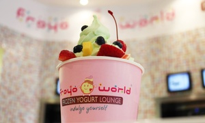 FroyoWorld: $13.40 for Four Groupons, Each Good for $6 Worth of Frozen Yogurt at FroyoWorld ($24 Value)