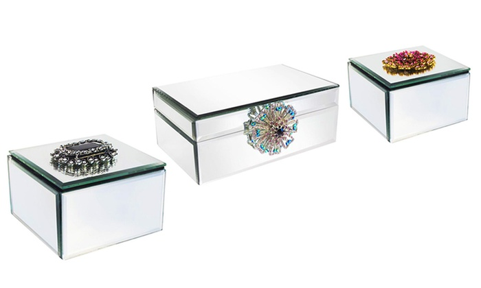American Atelier Mirror Jewelry Box With Brooch ...