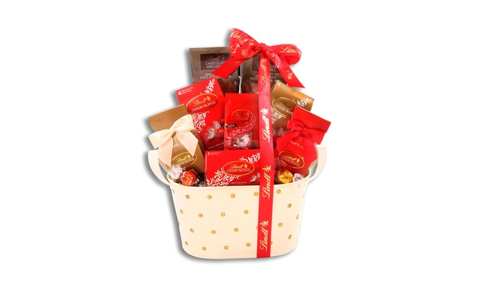 Lindt Chocolate Gift Basket | Groupon Goods