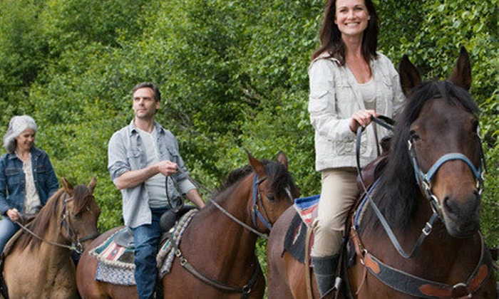 Whispering Winds Equestrian Centre - Niagara Falls: Horseback Trail Ride for One, Two, or Four at Whispering Winds Equestrian Centre in Niagara Falls (Up to 53% Off)
