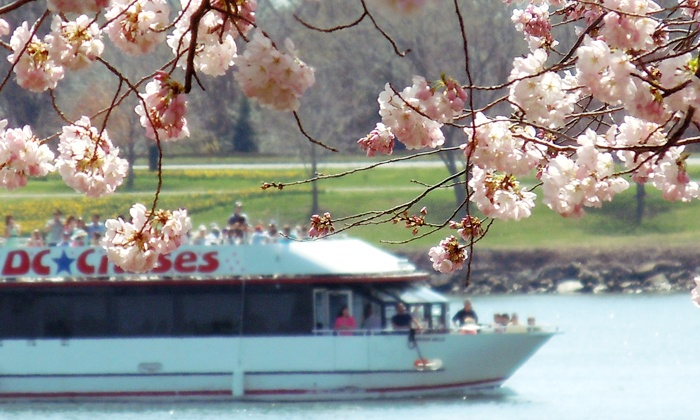 DC Cruises - DC Cruises: One-Hour Cherry Blossom Happy-Hour Cruise for One, Two, or Four from DC Cruises (Up to 50% Off)