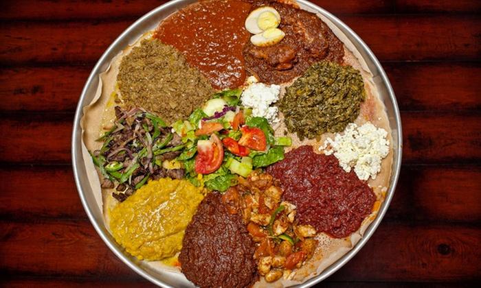 Demera Ethiopian Restaurant - Uptown: Ethiopian Meal for Two or Four at Demera Ethiopian Restaurant (Up to 52% Off)